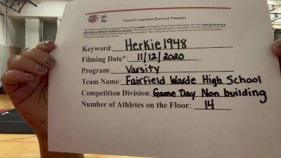 Fairfield Warde High School [Game Day Varsity Non-Building] 2020 NCA November Virtual Championship