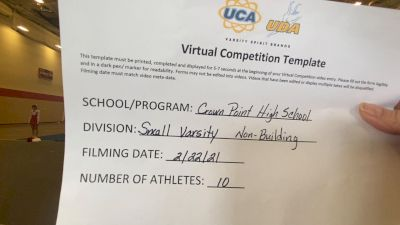 Crown Point High School [Small Varsity Non Building] 2021 UCA February Virtual Challenge