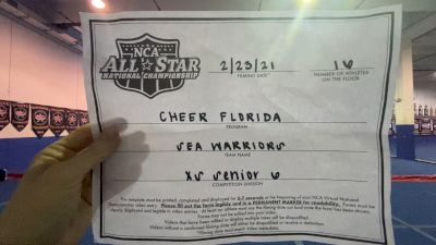 Cheer Florida All Stars - Sea Warriors [L6 Senior - Xsmall] 2021 NCA All-Star Virtual National Championship