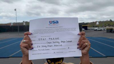 Capistrano Valley High School [Junior Varsity - Song/Pom - Novice Finals] 2021 USA Spirit & Dance Virtual National Championships