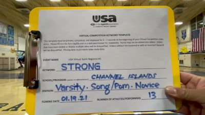Channel Islands High School [Varsity - Song/Pom - Novice] 2021 USA Virtual Spirit Regional #1