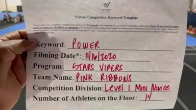 Stars Vipers - Pink Ribbons [L1 Mini - Novice] Varsity All Star Virtual Competition Series: Event V