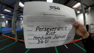 Cheerforce San Diego - Riot [L1 Junior - Medium] 2021 USA All Star Virtual Championships