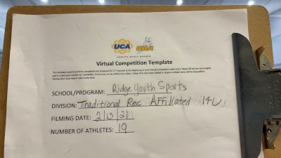Ridge Youth Sports [Game Day Affiliated Recreation] 2021 UCA February Virtual Challenge