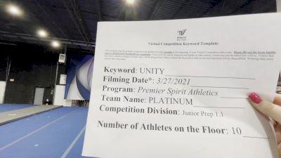 Premier Spirit Athletics - Platinum [L1.1 Junior - PREP] 2021 Mid Atlantic Virtual Championship