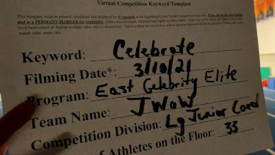 East Celebrity Elite - J WOW [L6 Junior Coed] 2021 Spirit Festival Virtual Nationals