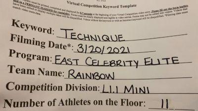 East Celebrity Elite [L1.1 Mini - PREP] 2021 Varsity Virtual Competition Series - Prep & Novice II