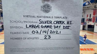 Silver Creek High School [Large Game Day Virtual Finals] 2021 UCA National High School Cheerleading Championship