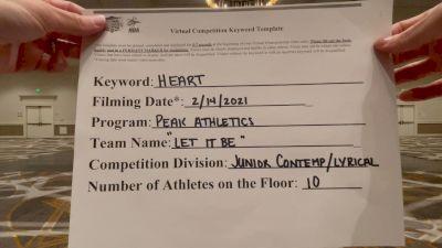 Peak Athletics [Junior - Contemporary/Lyrical] 2021 NCA & NDA Virtual February Championship