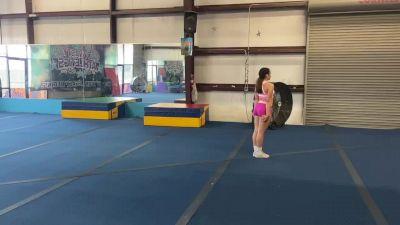 Miranda Estevis - Standing Tumbling [Level 4 - Week 1] 2020 Varsity TV Level Legacy Challenge