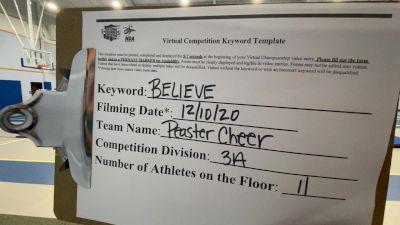 Peaster High School [Game Day Small Varsity] 2020 NCA December Virtual Championship