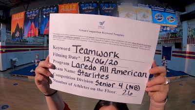 Laredo All American - Starlites [Level 4 L4 Senior - Non-Building] Varsity All Star Virtual Competition Series: Event VII
