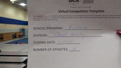Richland High School [Small Varsity Division II] 2021 UCA January Virtual Challenge