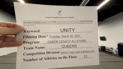 Cheer Legacy Allstars - Queens [L4 Senior Coed - D2 - Medium] 2021 Mid Atlantic Virtual Championship