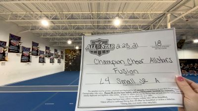 Champion Cheer - Fusion [L4 Junior - Small - A] 2021 NCA All-Star Virtual National Championship