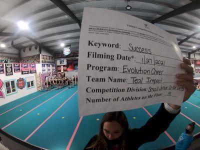 Evolution Cheer - Teal Impact [L5 Junior Coed - D2] 2021 Athletic Championships: Virtual DI & DII