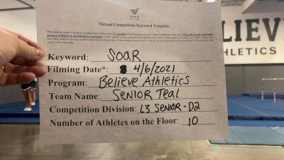 Believe Athletics - Senior Teal [L3 Senior] 2021 The Regional Summit Virtual Championships