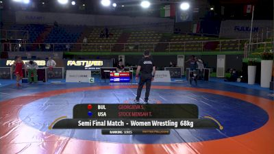 68KG SF, - Tamyra Mariama STOCK MENSAH, USA vs Sofiya Hristova GEORGIEVA, BUL