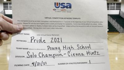 Poway High School [Open - Solo Finals] 2021 USA Spirit & Dance Virtual National Championships