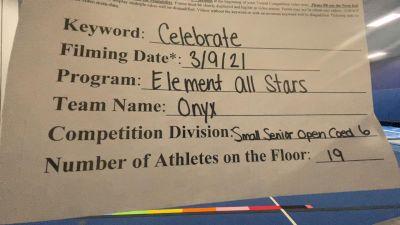 Element All Stars - Onyx [L6 Senior Coed Open - Small] 2021 Spirit Festival Virtual Nationals