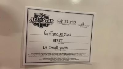 Gym Tyme - Heart [L4 Youth - Small] 2021 NCA All-Star Virtual National Championship