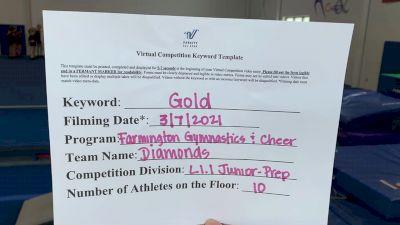 Farmington Gymnastics & Cheer - Diamonds [L1.1 Junior - PREP] 2021 Varsity Virtual Competition Series - Prep & Novice I