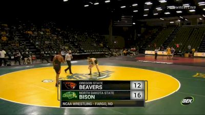 197 lbs - JJ Dixon (Oregon State) vs Michael Nelson (North Dakota State)