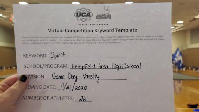 Hempfield Area High School [Game Day Varsity] 2020 UCA Allegheny Virtual Regional