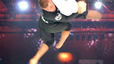 Pat Downey Hurls Opponent Overhead from Half Guard