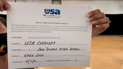 San Dimas High School [Open - Solo] 2021 USA Virtual West Coast Dance Championships