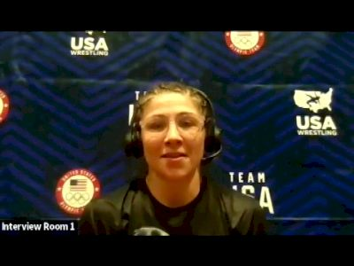 Jenna Burkert (57 kg) after winning challenge tournament at 2021 Olympic Trials