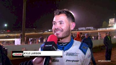 Kyle Larson Discusses Podium Finish In A Late Model