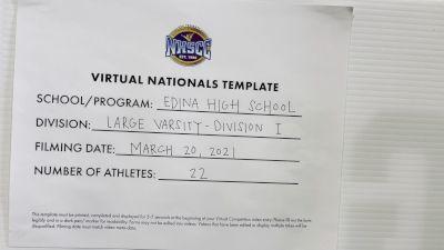 Edina High School [Virtual Large Varsity Semi Finals] 2021 UCA National High School Cheerleading Championship