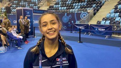 Erica Pastoriza Strikes Gold At Cadet Worlds