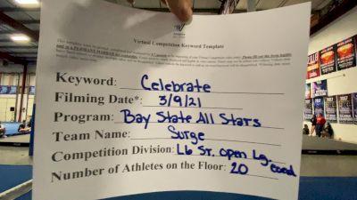 Bay State All Stars - Surge [L6 Senior Coed Open - Large] 2021 Spirit Festival Virtual Nationals