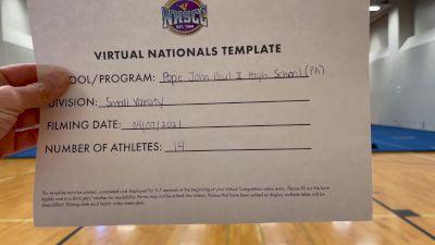 Pope John Paul II High School [Small Varsity Division II Virtual Semi Finals] 2021 UCA National High School Cheerleading Championship