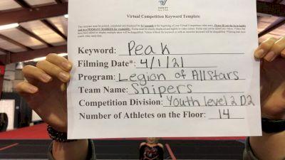 Legion of Allstars - Snipers [L2 Youth - D2 - Small] 2021 The Regional Summit Virtual Championships
