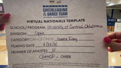 University of Central Oklahoma [Virtual Open Game Day - Dance Finals] 2021 UCA & UDA College Cheerleading & Dance Team National Championship