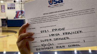 Beckman High School [Open - Solo Finals] 2021 USA Spirit & Dance Virtual National Championships
