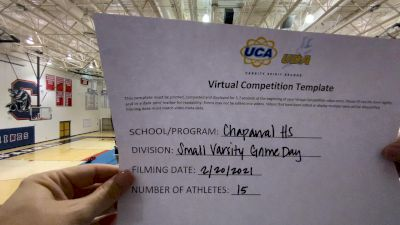 Chaprral High School [Game Day Small VA] 2021 UCA February Virtual Challenge