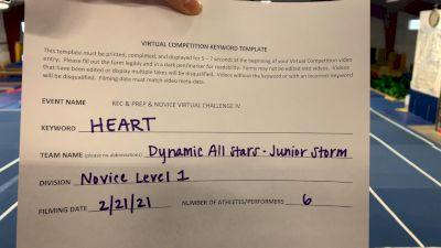 Dynamic All Stars - Junior Storm [L1 Junior - Novice] 2021 Varsity Rec, Prep & Novice Virtual Challenge IV