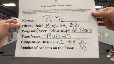 Cheer Advantage All Stars - Rubies [L1 Mini - D2] 2021 The Regional Summit Virtual Championships