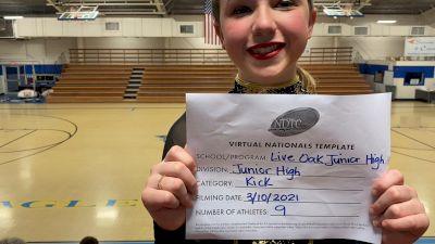 Live Oak Junior High School [Junior High - Kick Virtual Finals] 2021 UDA National Dance Team Championship