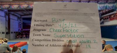 Cheer Factor - SUPERSTITION [L2 Youth - Small] 2021 The Regional Summit Virtual Championships