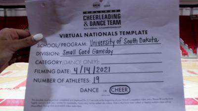University of South Dakota [Virtual Small Coed Game Day - Cheer Semi Finals] 2021 UCA & UDA College Cheerleading & Dance Team National Championship
