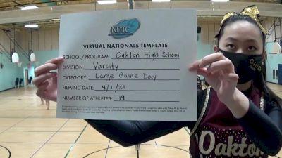 Oakton High School [Virtual Large Varsity - Game Day Semi Finals] 2021 UDA National Dance Team Championship