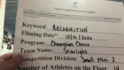 Champion Cheer - Starlight [Level 1 L1 Mini] 2020 America's Best Virtual National Championship