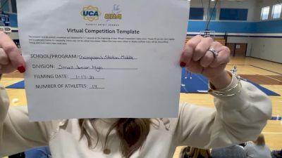 Thompsons Station Middle School [Small Junior High] 2021 UCA January Virtual Challenge