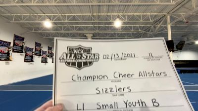 Champion Cheer - Sizzlers [L1 Youth - Small - B] 2021 NCA All-Star Virtual National Championship