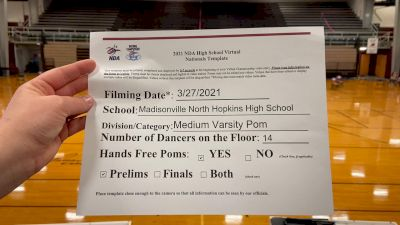 Madisonville North Hopkins High School [Medium Varsity - Pom Virtual Prelims] 2021 NDA High School National Championship